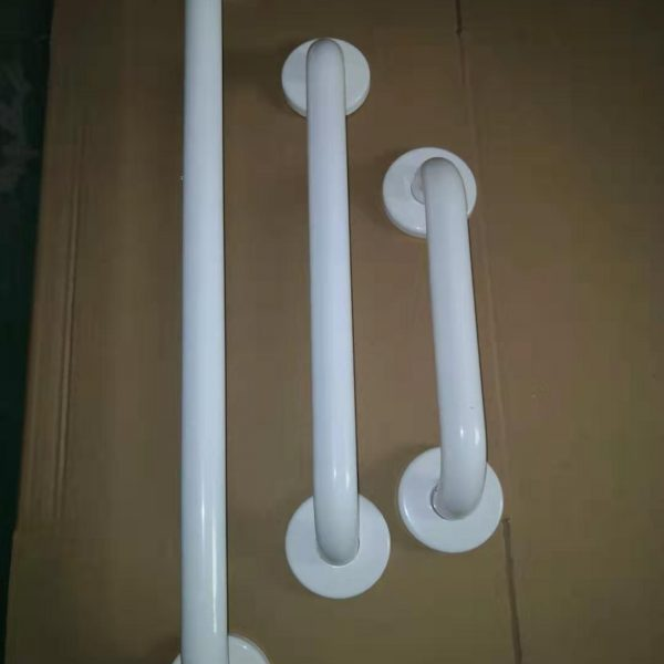 grab bar with white finish